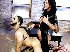 Dirty mistress Morgan screwing her slave