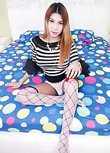 Ladyboy Nanne - Striped Sweater Cum Insert