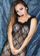 A Very Beautiful Shemale in Transparent Lace Lingerie