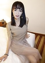 24yo busty Thai ladyboy fucks and sucks off white cock