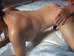 Petite Brunette RAMMED in the Ass without Mercy