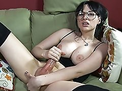 Hard Bailey fucking a rubber pussy