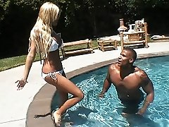Beautiful Kimber James having fun with a black dude