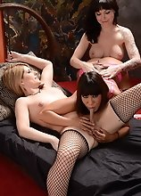 Dirty 3some with Ava, Amy and post op Danielle