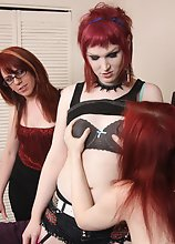 Wendy, Rebeka Refuse, & Amy Gray suck & fuck