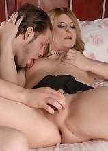 Stunning Amy riding on Wolfe's huge hard dick